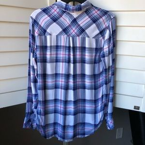 Rails Tops - Rails hunter plaid button down shirt ivory blue